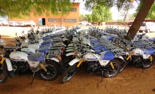 Vue des motos